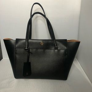 Tory Burch Robinson Black Tote